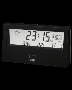CTC Wetterstation mit Uhr WSU 7022 schwarz