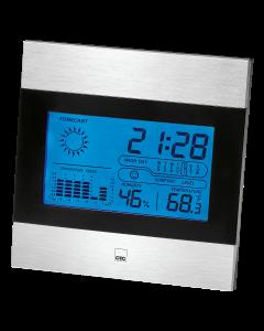 CTC Wetterstation mit Uhr WSU 7023 schwarz/aluminium