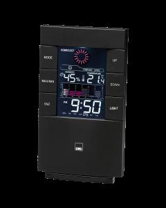 CTC Wetterstation mit Uhr WSU 7024 schwarz