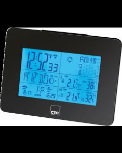 CTC Wetterstation mit Funkuhr WSU 7026 RC schwarz