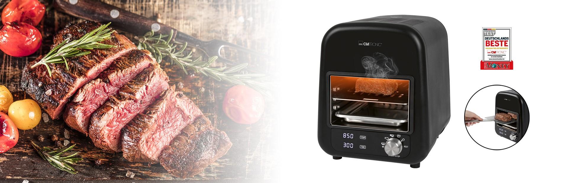 Perfektes Steak? Kein Problem mit unserem 850 °C Elektro Beef-Grill EBG 3760.